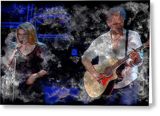 Stevie And Lindsey Greeting Card by John Delong
