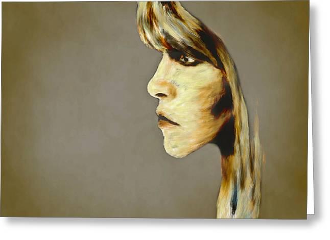 Stevie Nicks Greeting Card by Arne Hansen