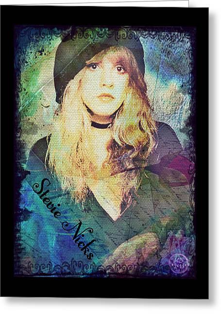 Stevie Nicks - Beret Greeting Card by Absinthe Art By Michelle LeAnn Scott
