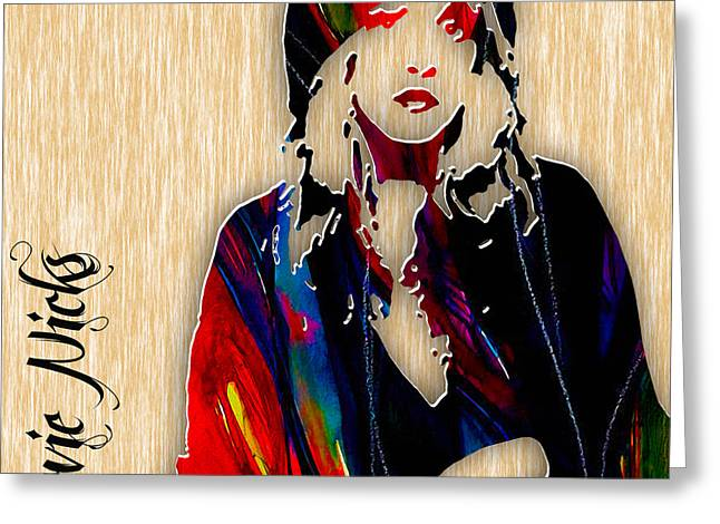 Stevie Nicks Greeting Card by Marvin Blaine