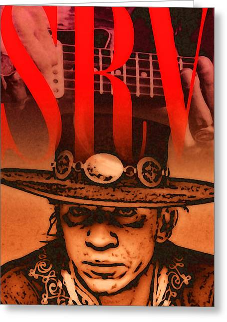 Stevie Ray Greeting Card by Stephen Anderson