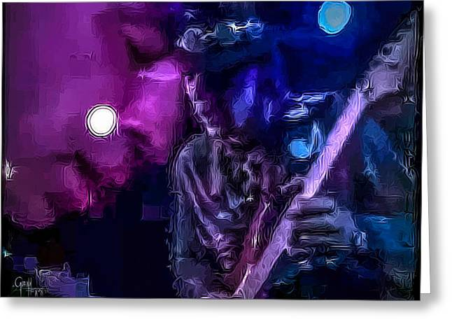 Stevie Ray Vaughan - Lenny  Greeting Card by Glenn Feron