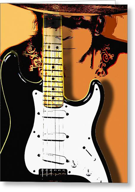 Stevie Ray Vaughan Greeting Card by Larry Butterworth
