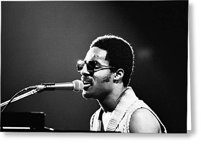 Stevie Wonder - Piano Man Greeting Card