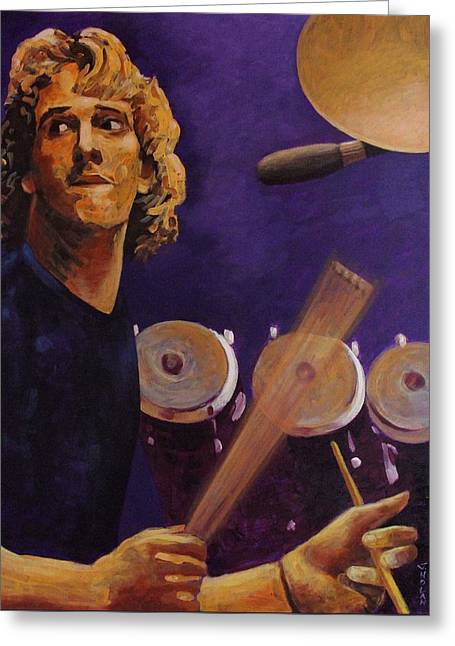 Stewart Copeland - The Police Greeting Card by John  Nolan