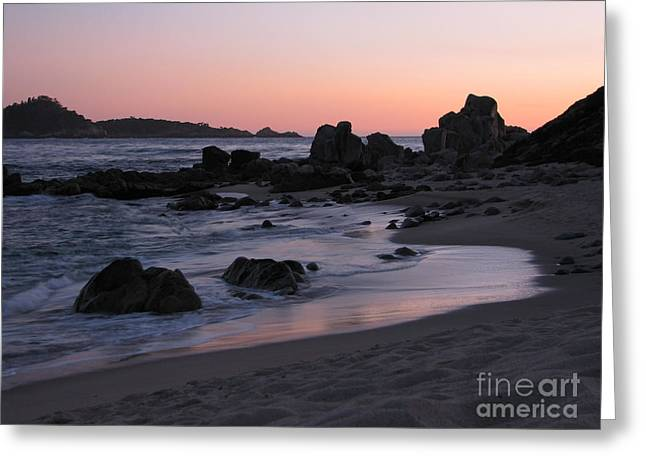 Stewart's Cove At Sunset Greeting Card