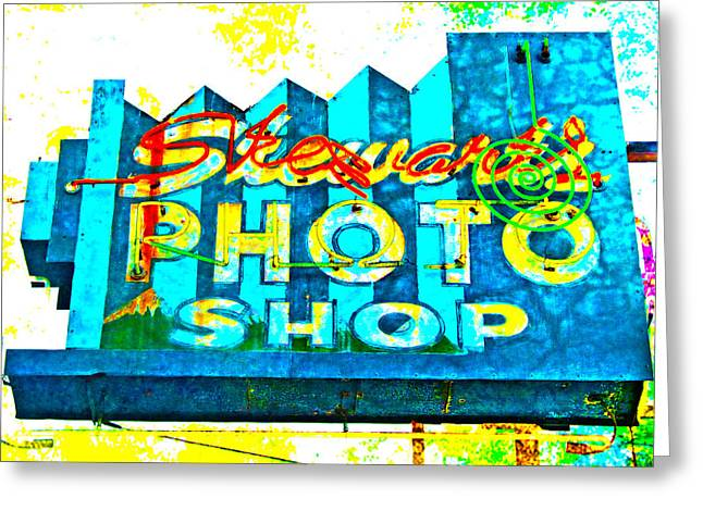 Stewart's Photo Shop Greeting Card by Gail Lawnicki