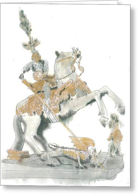 St.george From Piran Greeting Card