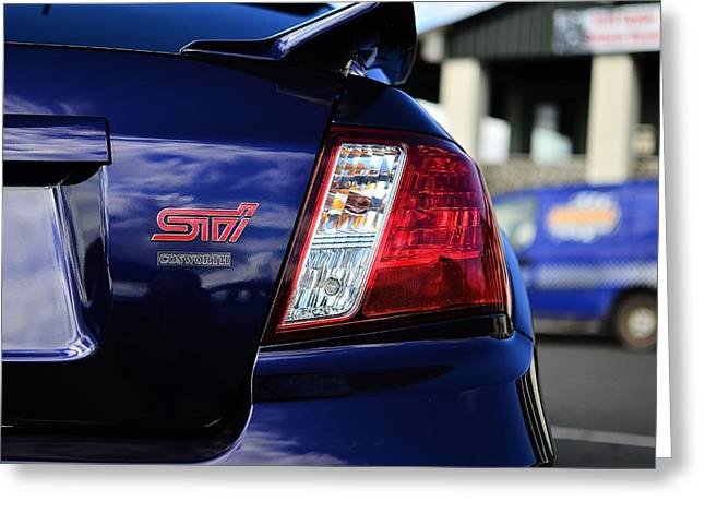 Sti Cosworth Impreza Greeting Card by Phil Kellett