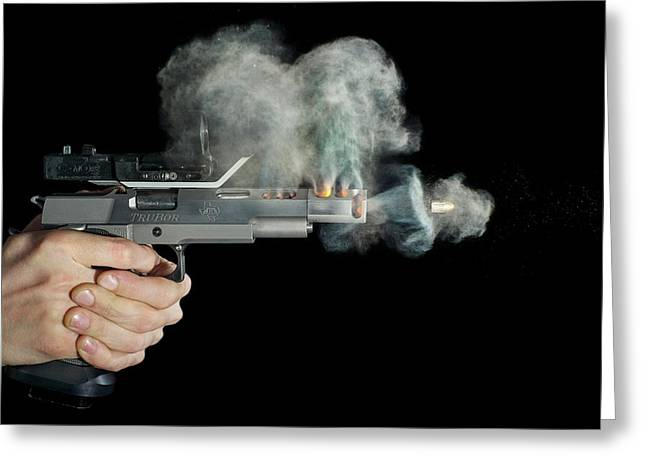 Sti Edge Pistol Shot Greeting Card by Herra Kuulapaa � Precires