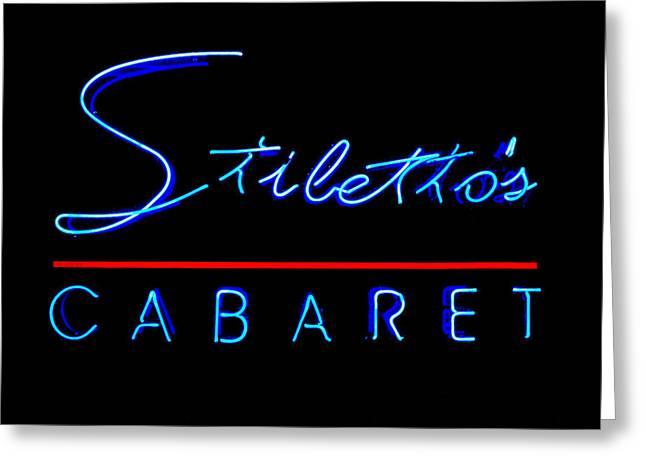 Stiletto's Cabaret Greeting Card