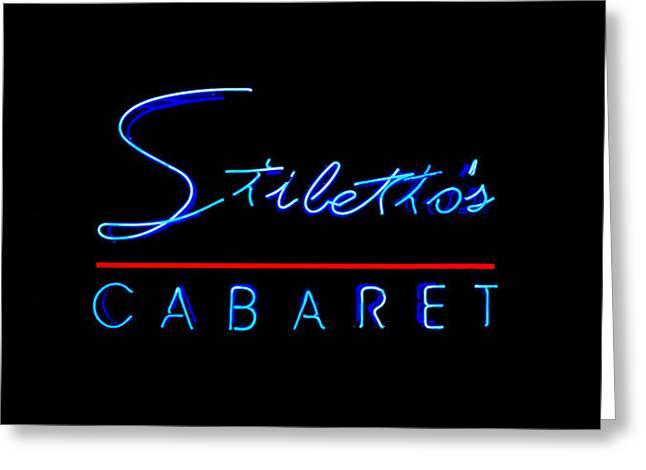 Stiletto's Cabaret Too Greeting Card