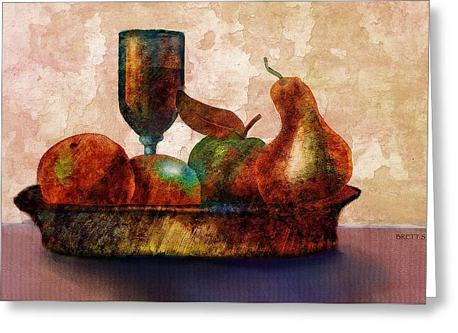 Still Fife - Fruit And Glass Greeting Card