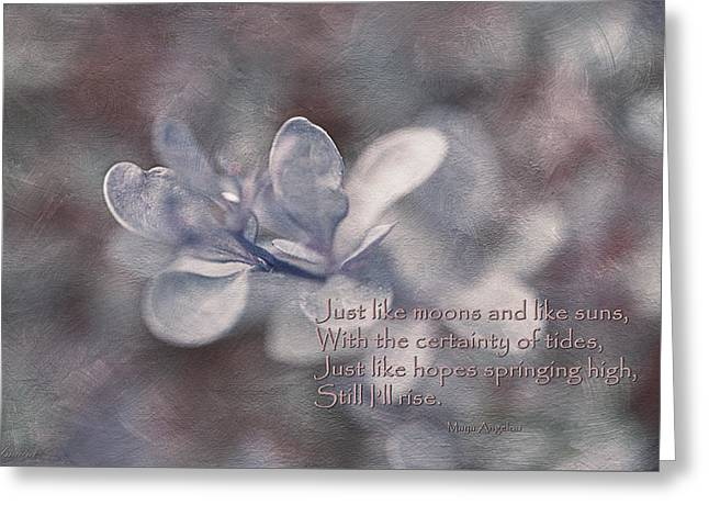 Still I Rise Greeting Card by Maria Angelica Maira