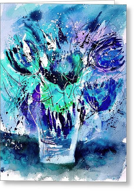 Still Life 3423 Greeting Card by Pol Ledent