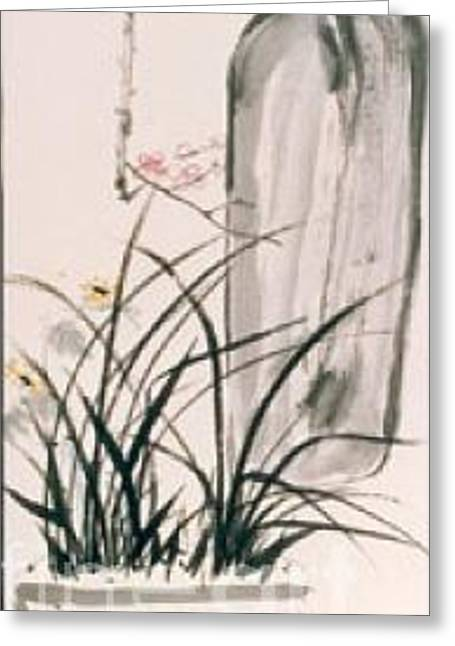 Still Life And Flower Greeting Card by Fereshteh Stoecklein