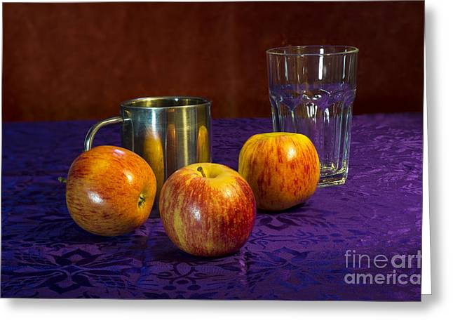 Still Life Apples Greeting Card by Donald Davis