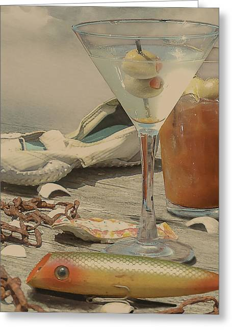 Still Life - Beach With Curves Greeting Card
