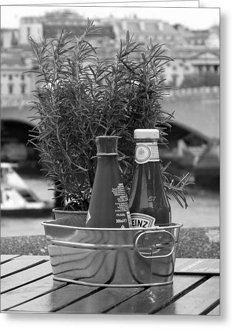 Still Life Condiments Greeting Card