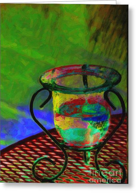Still Life Greeting Card by Gerlinde Keating - Galleria GK Keating Associates Inc