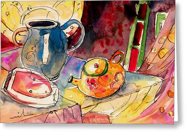 Still Life In Borgo In Italy 02 Greeting Card by Miki De Goodaboom