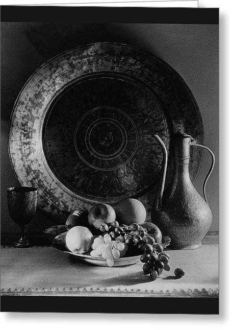 Still Life Of Armenian Plate And Other Greeting Card by Joseph B. Wurtz