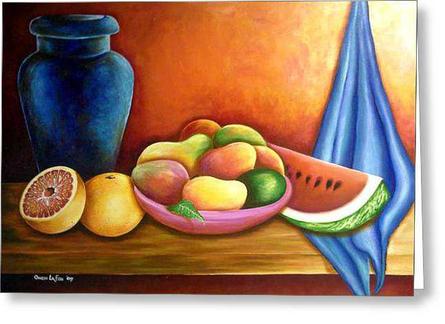 Still Life Of Fruits Greeting Card