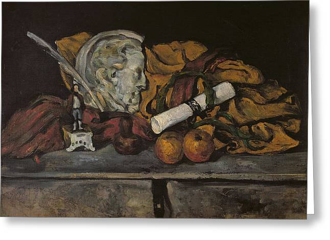 Still Life Of The Artists Accessories Greeting Card by Paul Cezanne