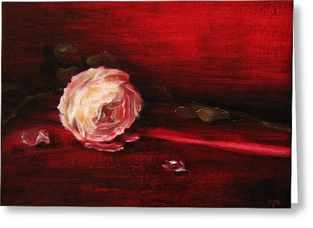 Still Life - Original Painting. Part Of A Diptych.  Greeting Card by Tanya Byrd