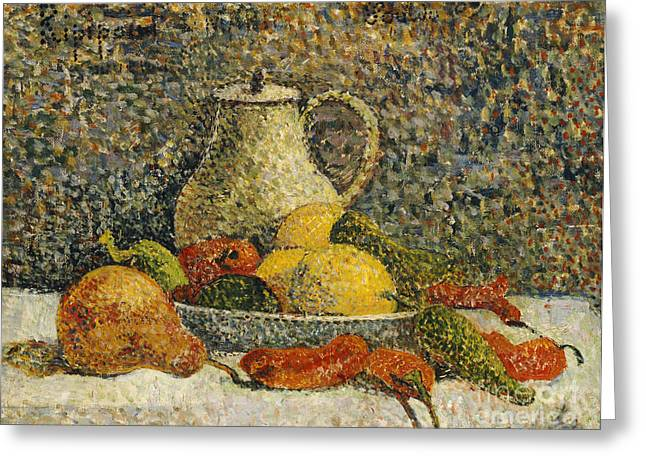 Still Life Greeting Card by Paul Gaugin