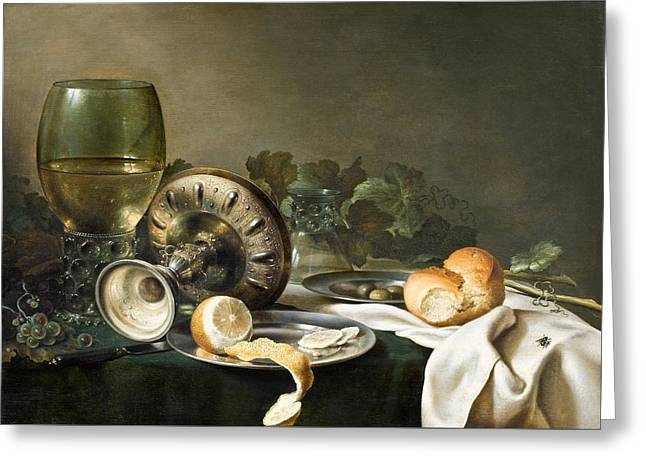Still-life Greeting Card by Willem Claeszoon Heda