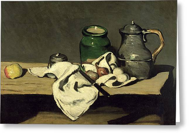 Still Life With A Kettle Greeting Card