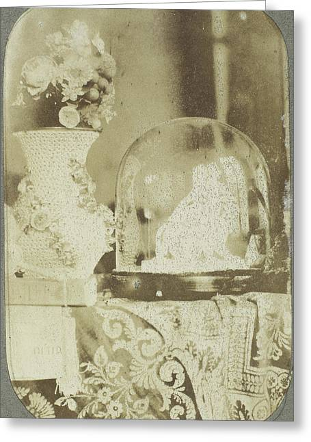 Still Life With A Small Copy Of Ariadne Auf Dem Panther Greeting Card