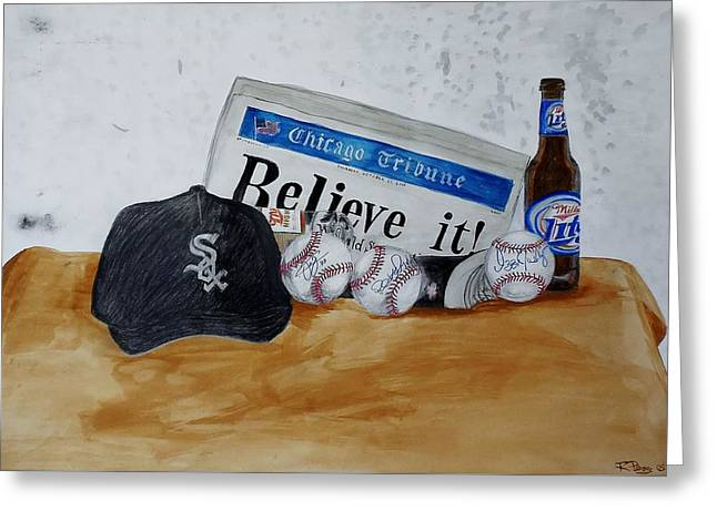 Still Life With Autograph Baseballs Greeting Card