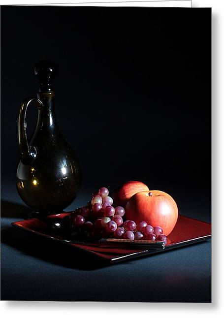 Greeting Card featuring the photograph Still Life With Decanter by Joe Kozlowski