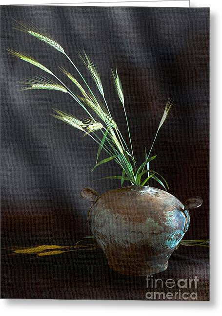 Still Life With Ears Of Wheat Greeting Card