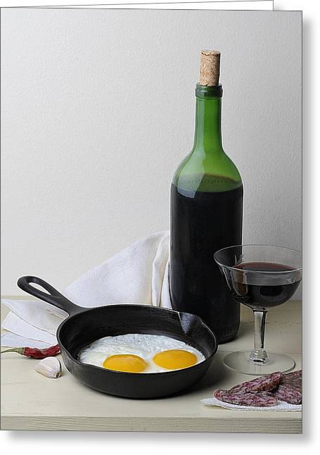 Still Life With Eggs Greeting Card by Krasimir Tolev