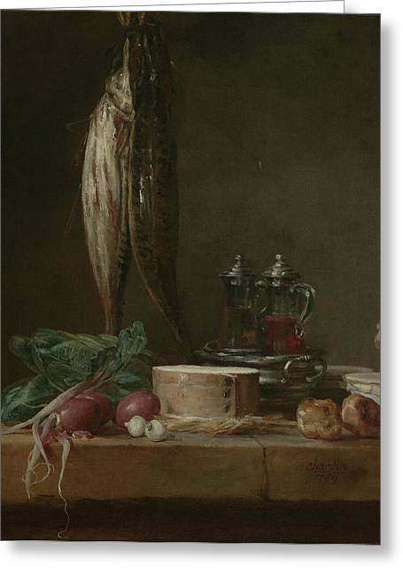 Still Life With Fish, Vegetables, Gougères Greeting Card by Litz Collection