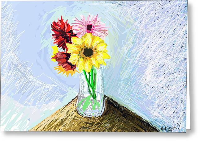 Still Life With Flowers Greeting Card by Paul Sutcliffe