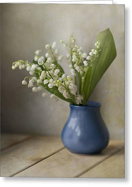 Still Life With Fresh Flowers Greeting Card by Jaroslaw Blaminsky