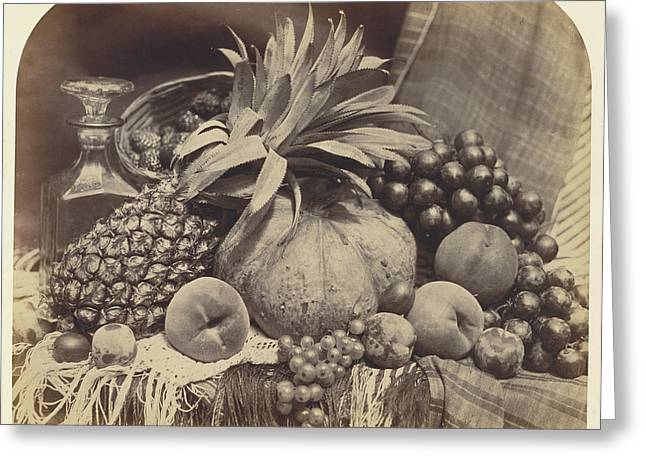 Still Life With Fruit And Decanter Roger Fenton Greeting Card