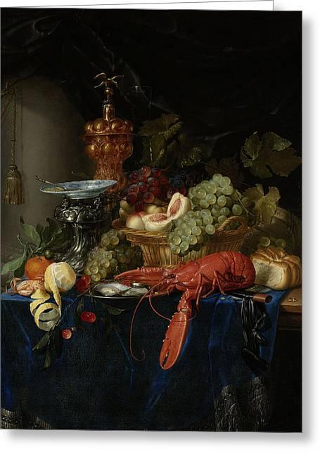 Still Life With Golden Goblet, Pieter De Ring Greeting Card