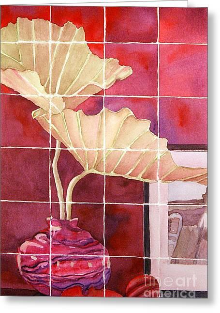 Still Life With Grid Greeting Card by Gwen Nichols