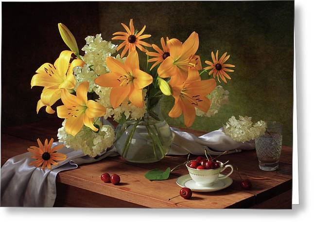Still Life With Lilies Greeting Card