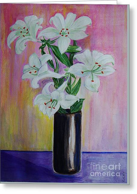 Lilies - Painting Greeting Card