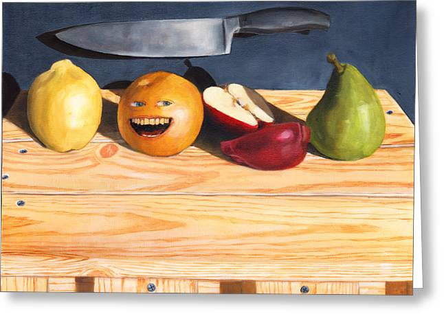 Still Life With Orange No. 2 Greeting Card