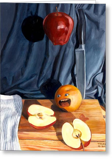 Still Life With Orange  No. 4 Greeting Card