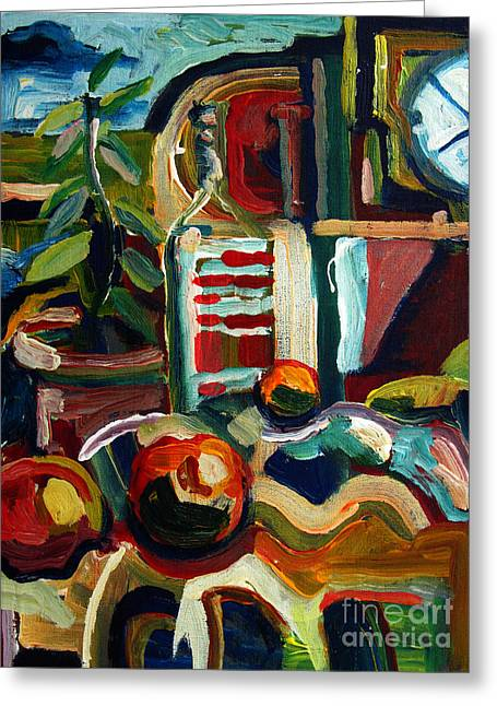 Still Life With Oranges Archived Greeting Card by Charlie Spear