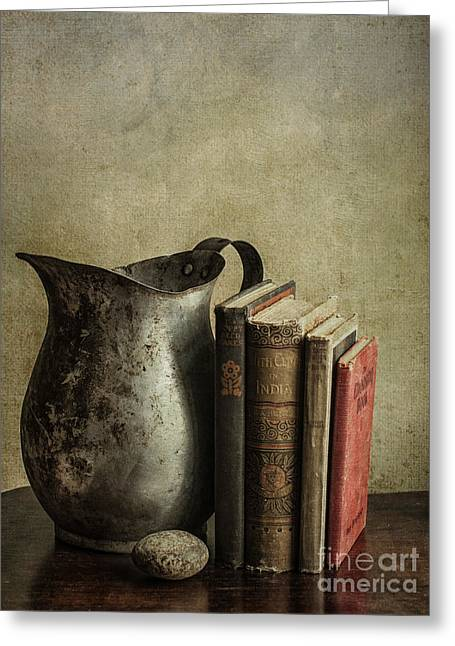 Still Life With Pitcher Greeting Card by Terry Rowe