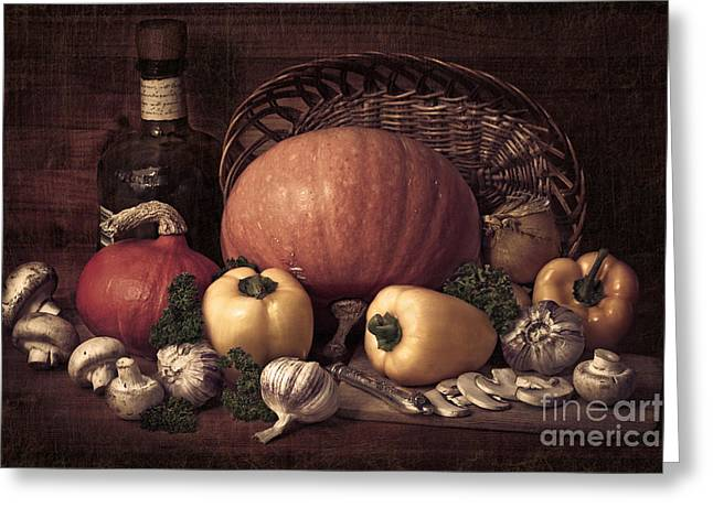 Still Life With Pumpkins Greeting Card